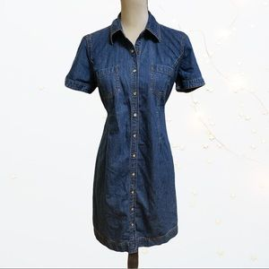 Motherhood Maternity Denim Button Down Dress Small